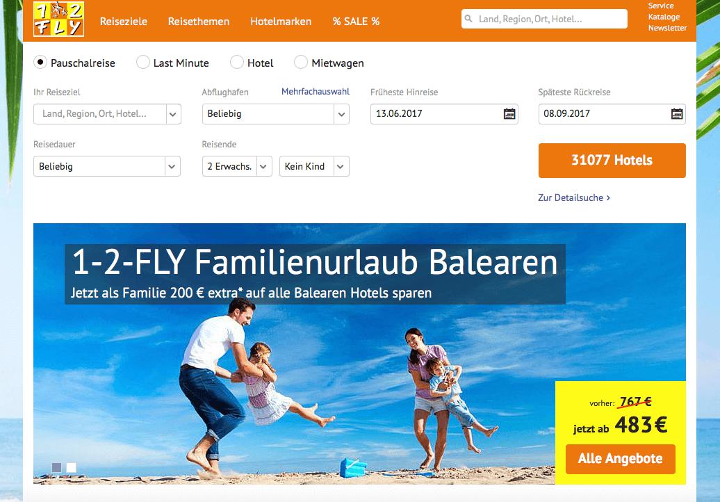 1-2-fly Gutscheincode