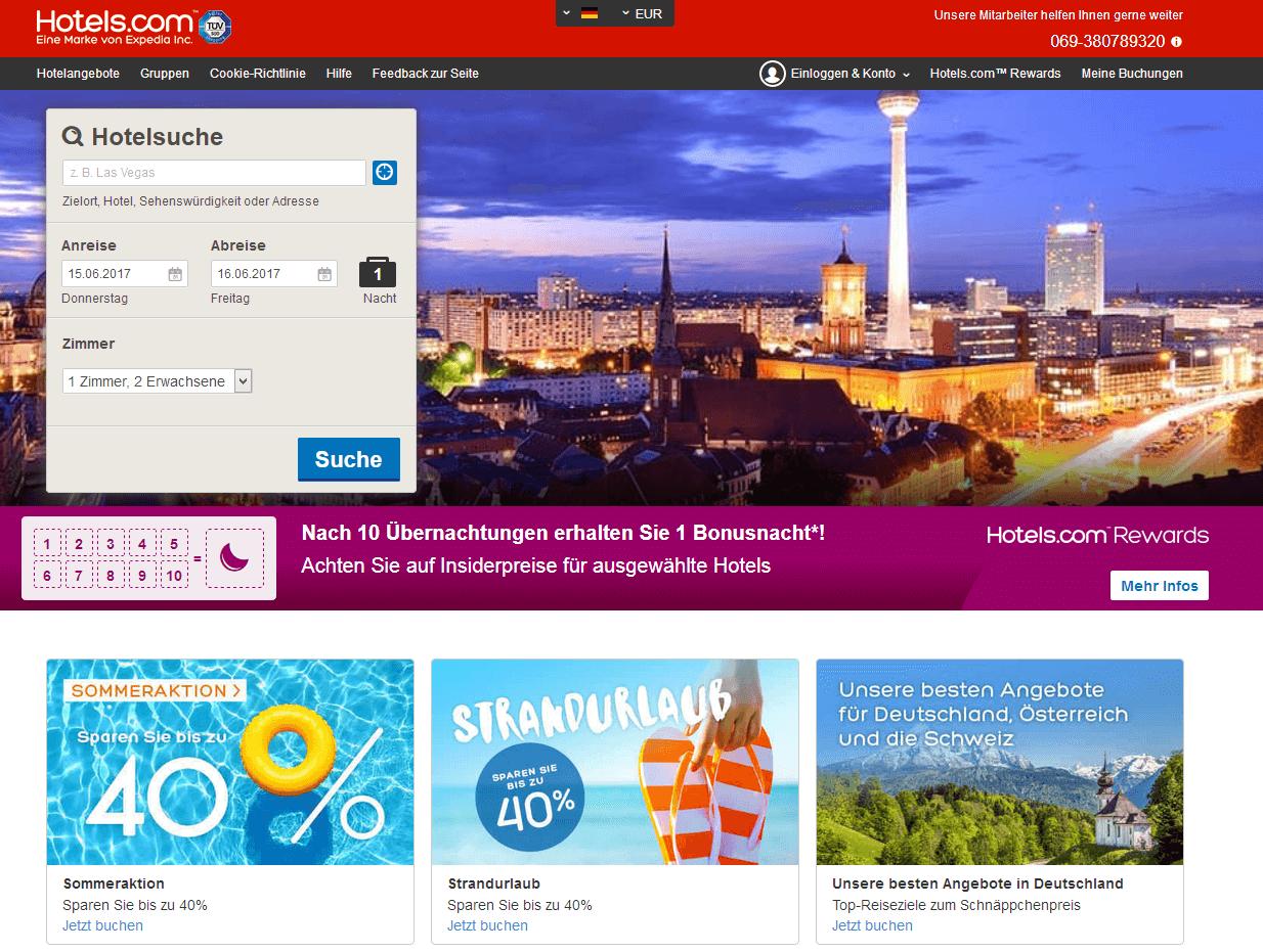 Hotels.com Aktionscode