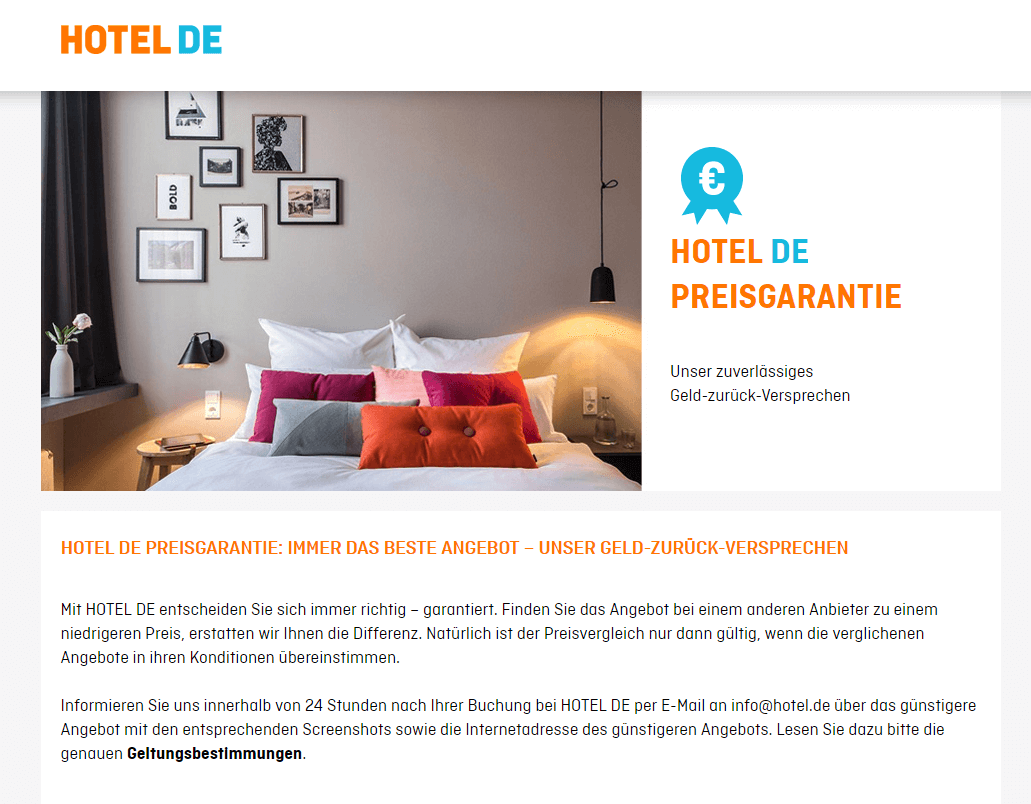 Hotel.de Preisgarantie